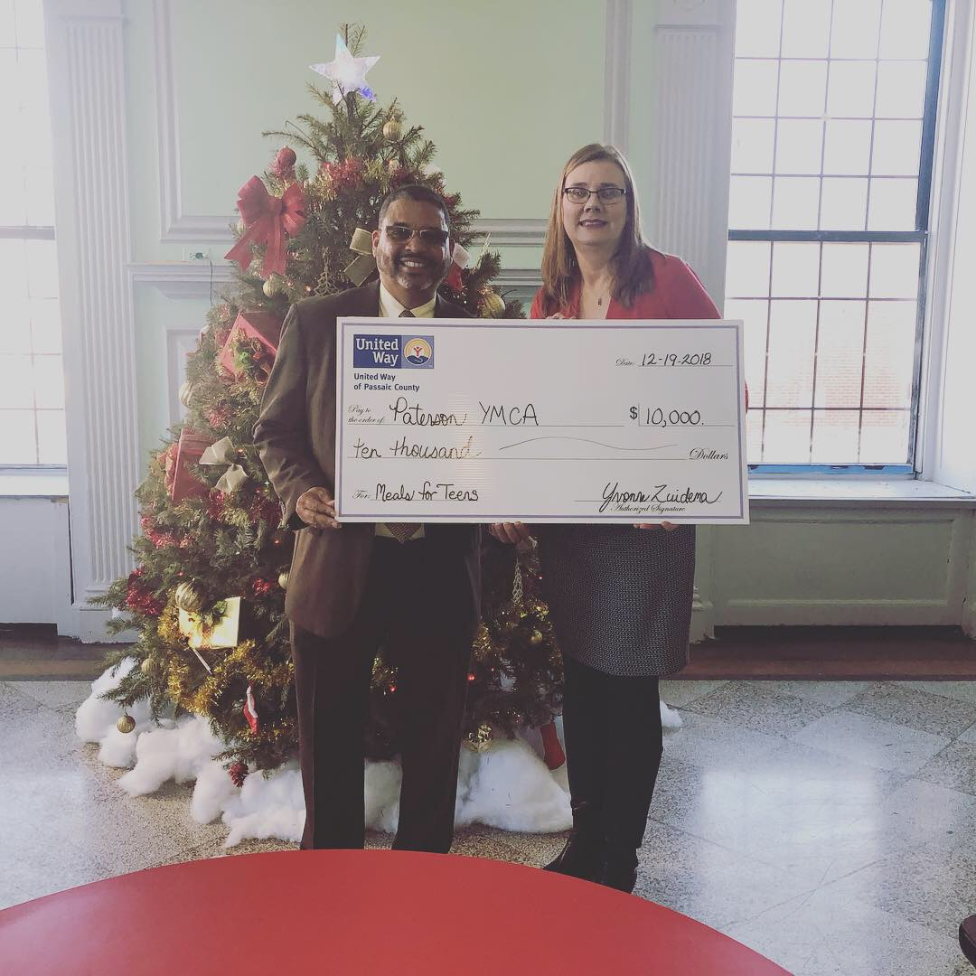 United Way Awards the YMCA of Paterson $10,000 to Address Teen Food Insecurity